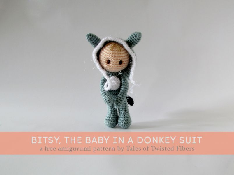Bitsy, the baby in a Donkey Suit