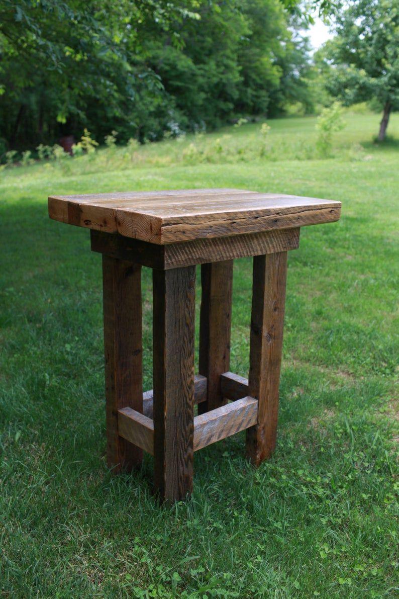 Barn wood pub table farmhouse style furniture free etsy