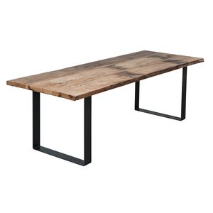 Modern Industrial Reclaimed Barn Wood And Metal Dining Table 3