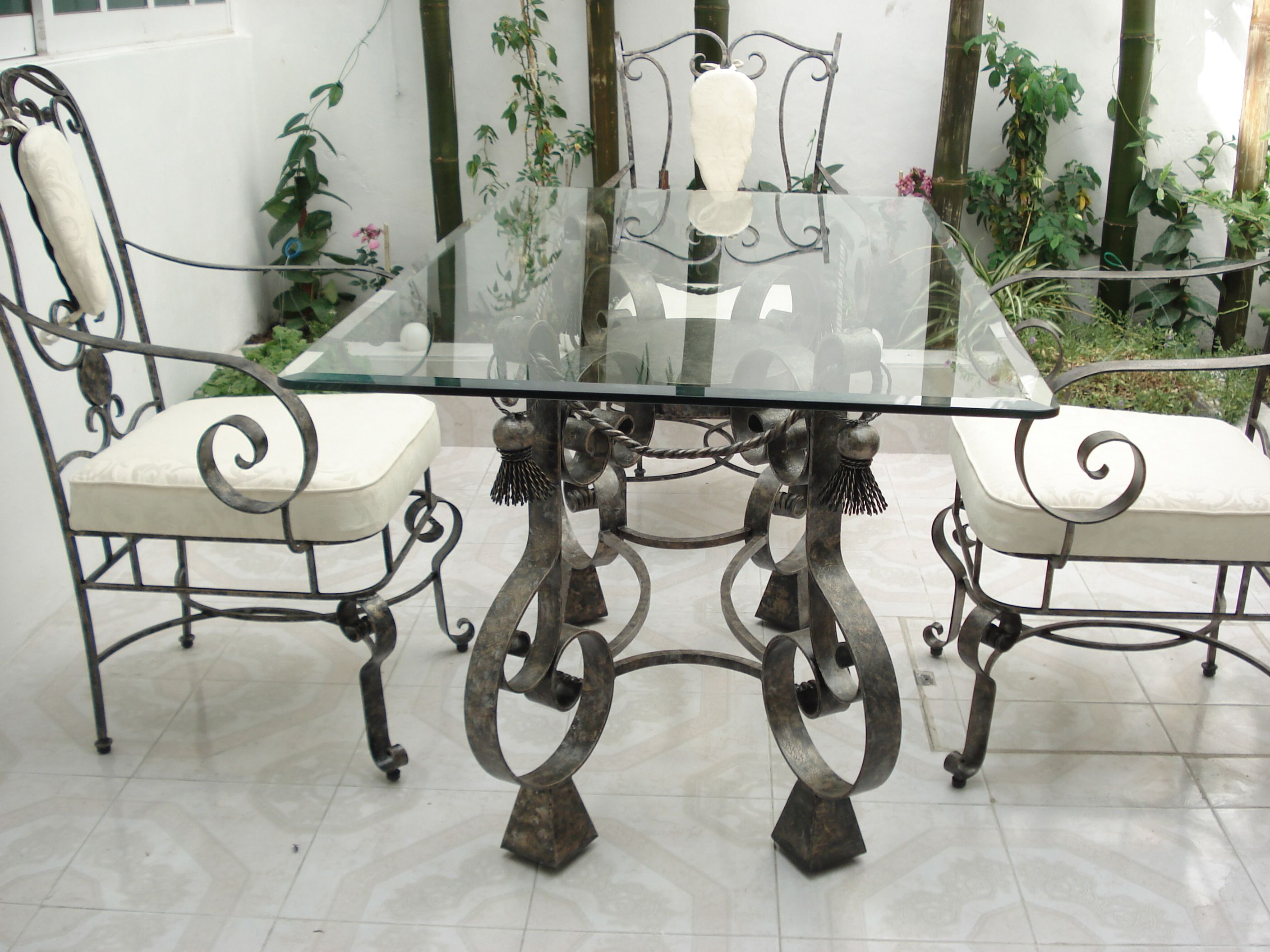 Fresco Of Wrought Iron Kitchen Tables Displaying Attractive
