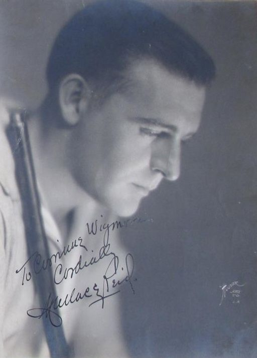 This is just an amazing photo of Wallace Reid, note the signature ...