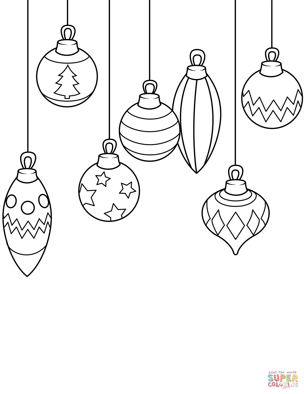 Simple Christmas Ornaments Coloring Page Printable Christmas Ornaments Christmas Ornament Coloring Page Easy Christmas Drawings