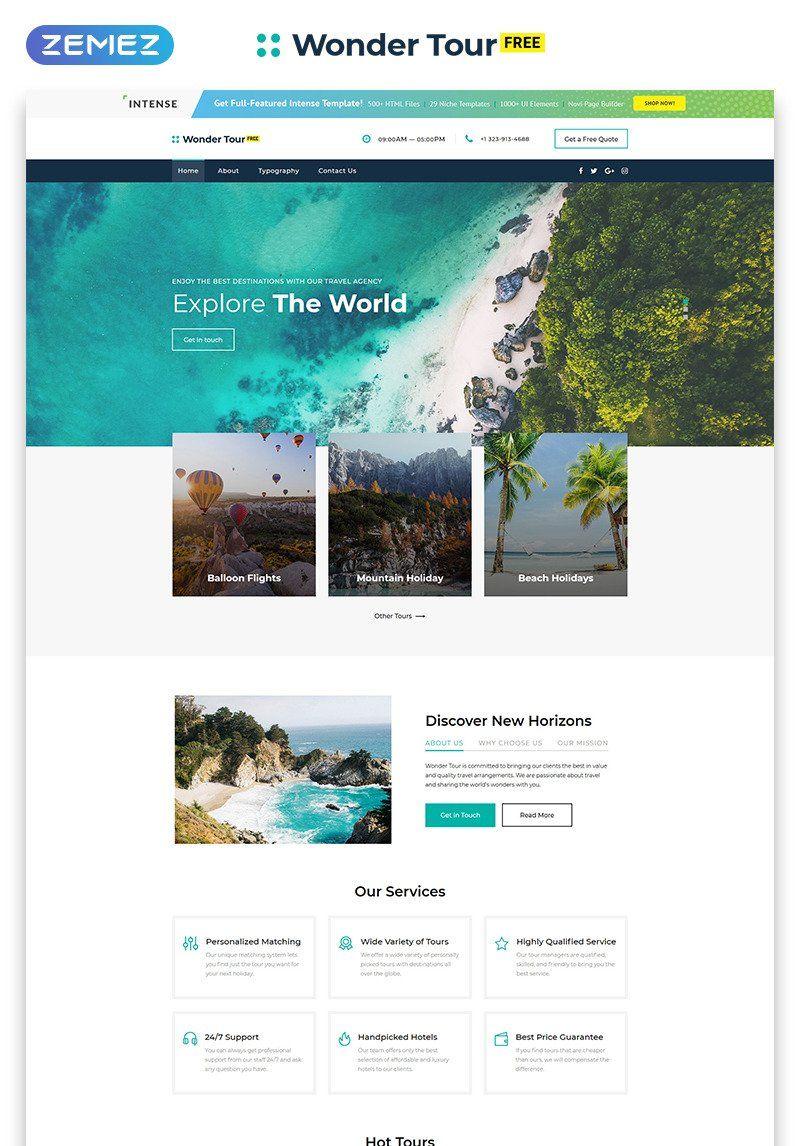 Free Jquery Travel Theme Travel Website Design Travel Agency Website Travel Website Templates