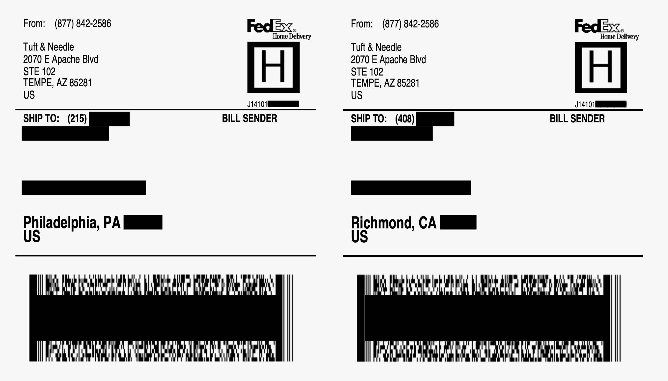 Tuft & Needle exposed thousands of customer shipping labels