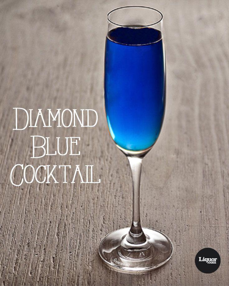 Diamond Blue Recipe Blue Alcoholic Drinks Blue Curacao Drinks Blue Cocktails
