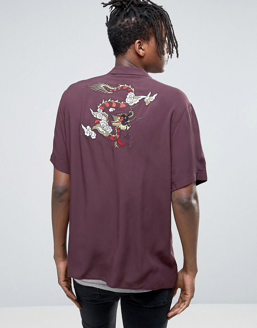 Get this Asos's printed t-shirt now! Click for more details. Worldwide shipping. ASOS Regular Fit Viscose Shirt With Dragon Embroidery - Red: Shirt by ASOS, Lightweight cotton, Button placket, Embroidered back, Regular fit - true to size, Machine wash, 100% Viscose, Our model wears a size Medium and is 6'2.5�/189 cm tall. ABOUT ASOS BRAND ASOS menswear shuts down the new season with the latest trends and the coolest products, designed in London and sold across the world. Update your go-to…