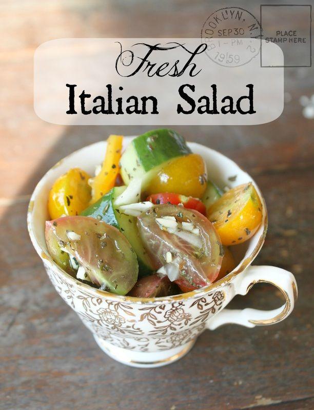 A simple, garden fresh (paleo) Italian salad.