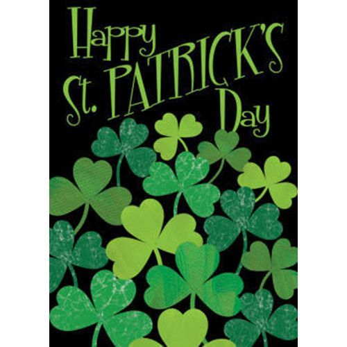 Shamrocks St Patrick S Garden Flag St Patrick S Day Decorations Happy St Patricks Day House Flags