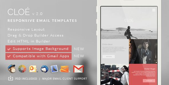 Cloe responsive email template builder access responsive cloe responsive email template builder access pronofoot35fo Gallery