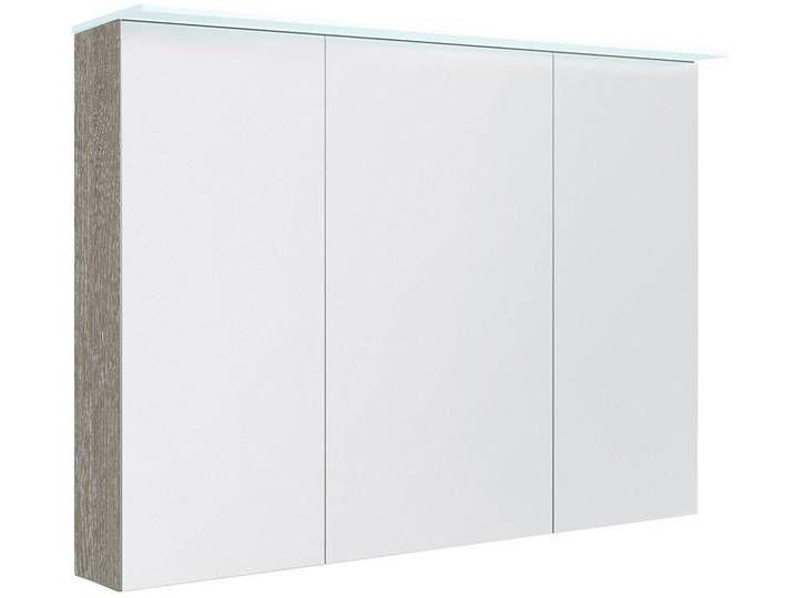 Badezimmer Spiegelschrank Siliguri 16 Farbe Esche Grau 70 X