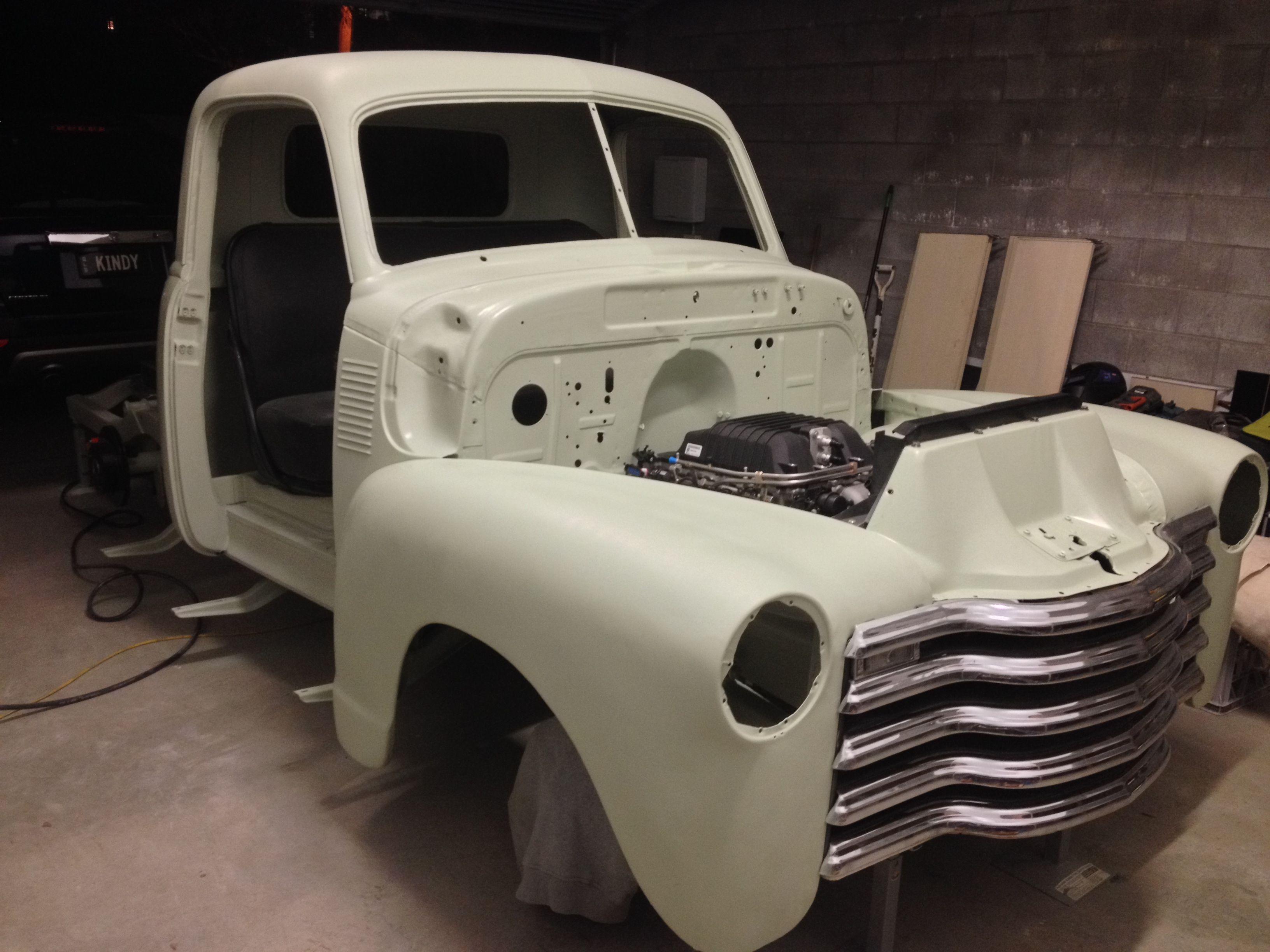 Shaun S Lsa Powered 1950 Chevy Pickup Under Construction Chevy Pickups 1954 Chevy Truck Chevy Trucks