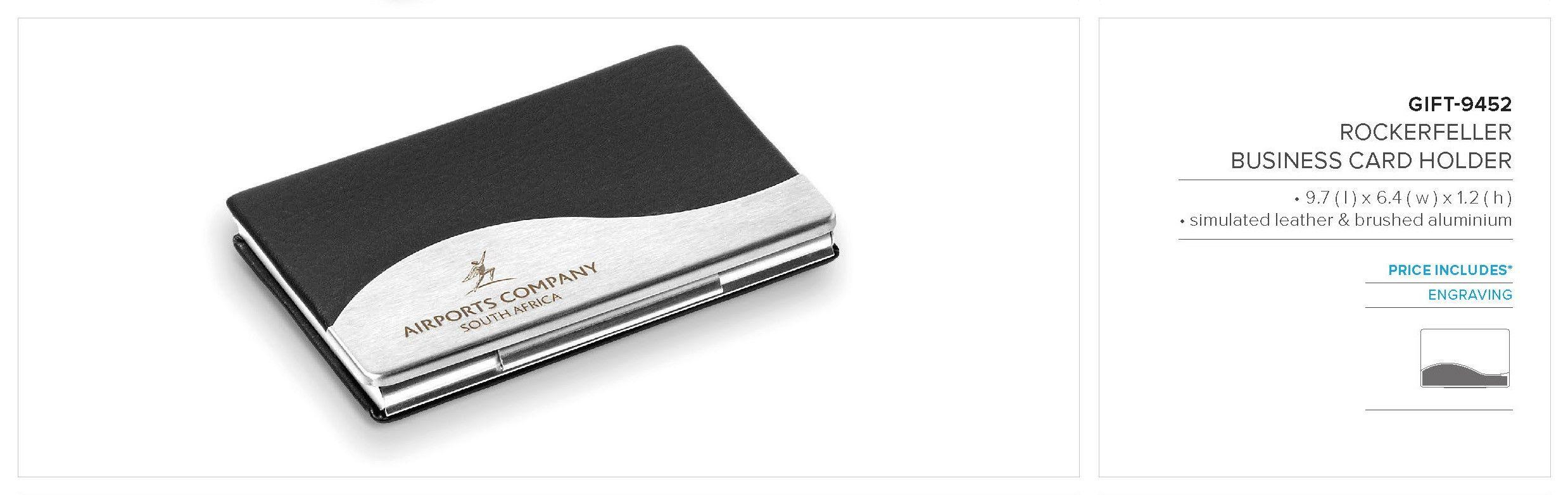 Branded Rockefeller Business Card Holder Corporate Gifts Business Gifts Corporate Outfits