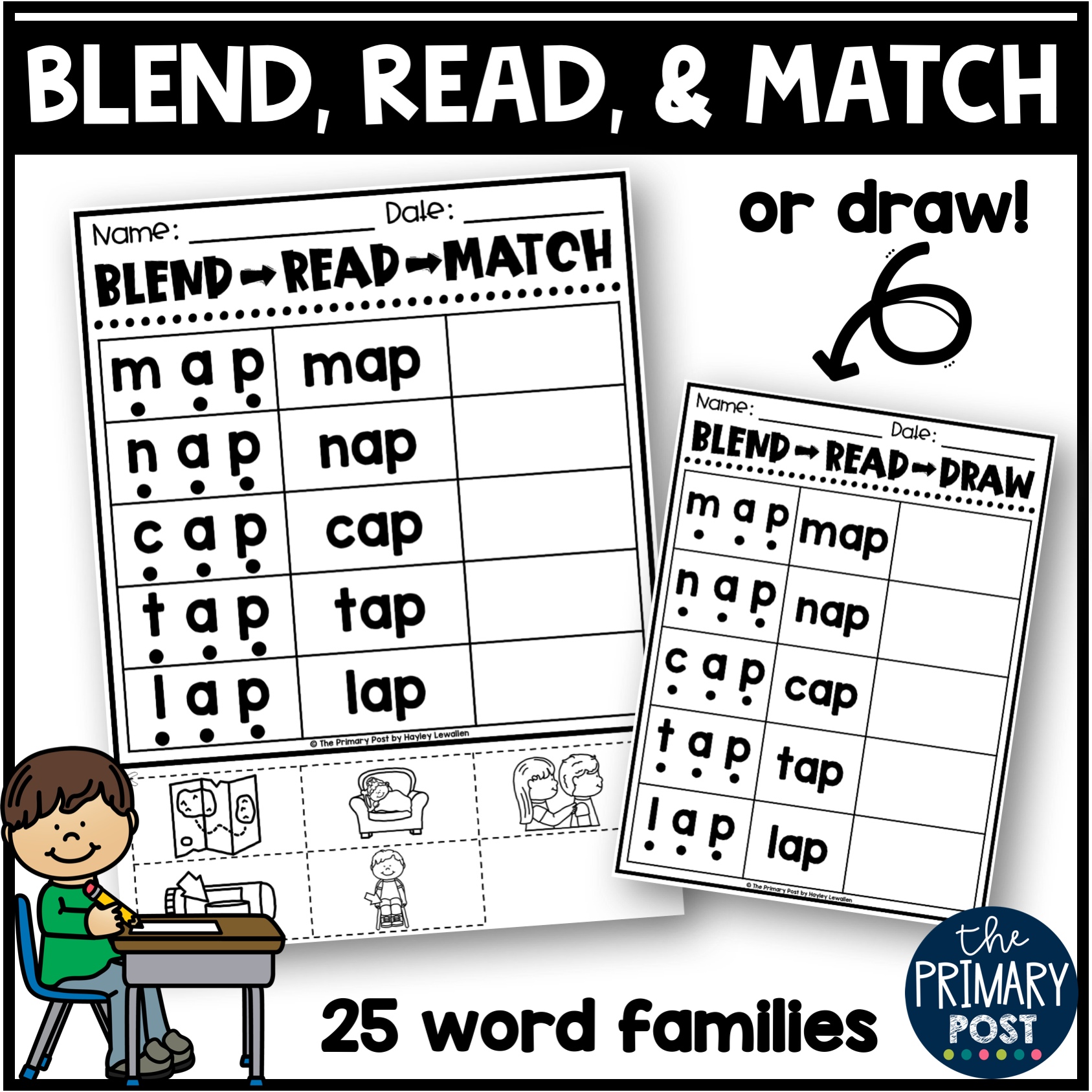 Cvc Words And Blending Board