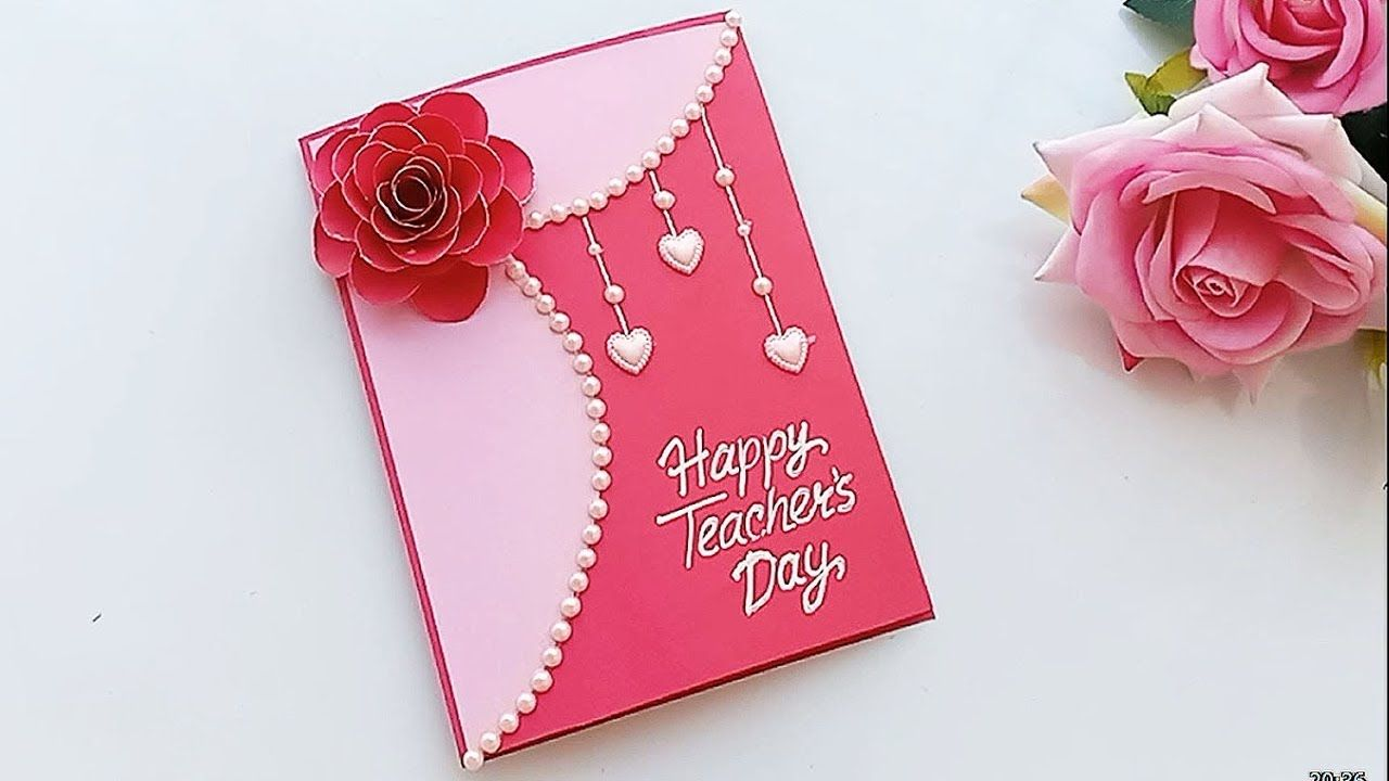 diy teacher's day card handmade teachers day card making