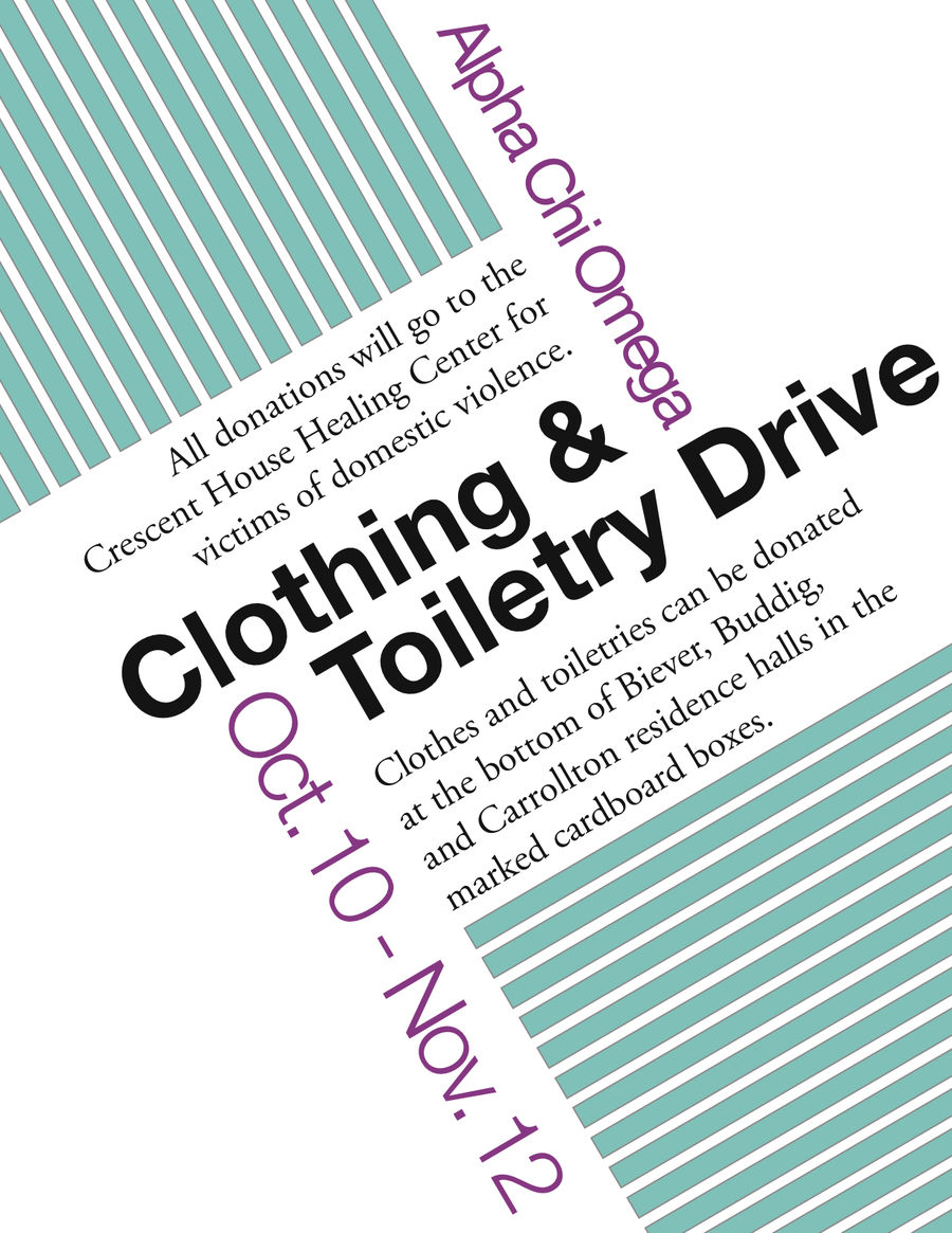 Alpha Chi Clothing Drive flyer by iOWNthisdeviantartcom on