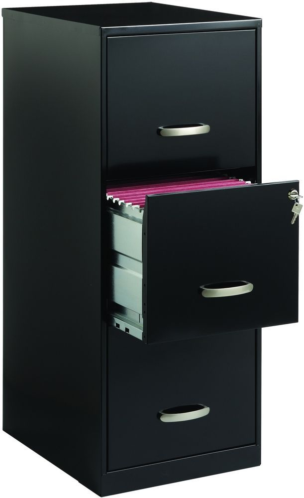 Black Metal File Cabinet Locking 3 Drawer Office Filing Storage Cabinets New Filing Cabinet Drawer Filing Cabinet Office Furniture Accessories
