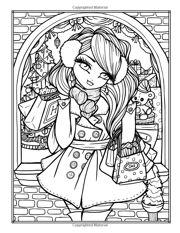 Amazonsmile A Whimsy Girls Christmas Coloring Book Festive Girls Fairies More 9781682614938 Ha Cute Coloring Pages Coloring Books Blank Coloring Pages