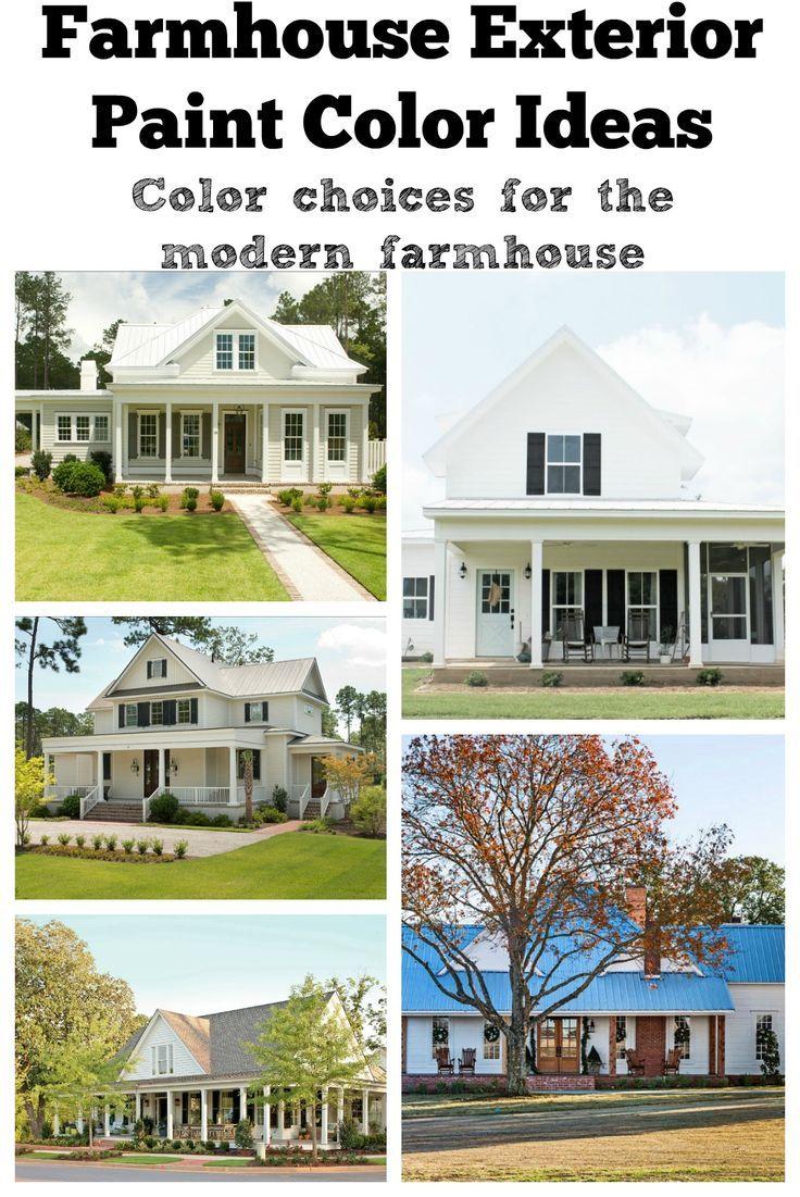 Farmhouse Exterior Paint Color Ideas White Exterior Paint House Paint Exterior Farmhouse Exterior Colors