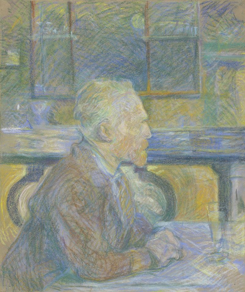 Happy 150th birthday to Henri de Toulouse Lautrec! Did you know he made this portrait of Vincent van Gogh in 1887? http://www.vangoghmuseum.nl/en/collection/d0693V1962   Image: Henri de Toulouse Lautrec (1864 – 1901), Vincent van Gogh, 1887, Van Gogh Museum, Amsterdam (Vincent van Gogh Foundation)