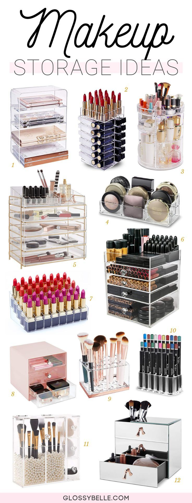 21 Makeup Storage Ideas To Organize Your Vanity – Glossy Belle