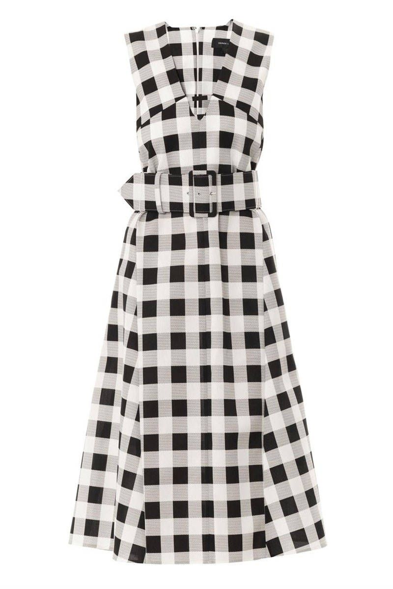 50 Dresses Perfect for Spring - Best Spring Dresses - Elle  Gingham Style  Derek Lam Check-Print A-Line Dress, $2,412; matchesfashion.com