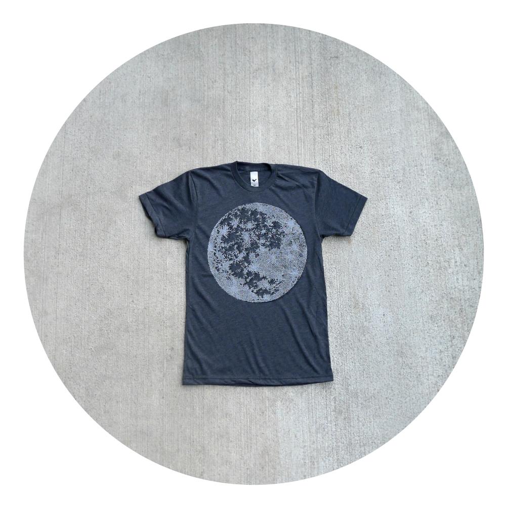 Black Friday Etsy - Mens t shirt - S/M/L/XL - fall fashion - full moon screenprint on American Apparel heather black - My Moon, My Man. $21.25, via Etsy.