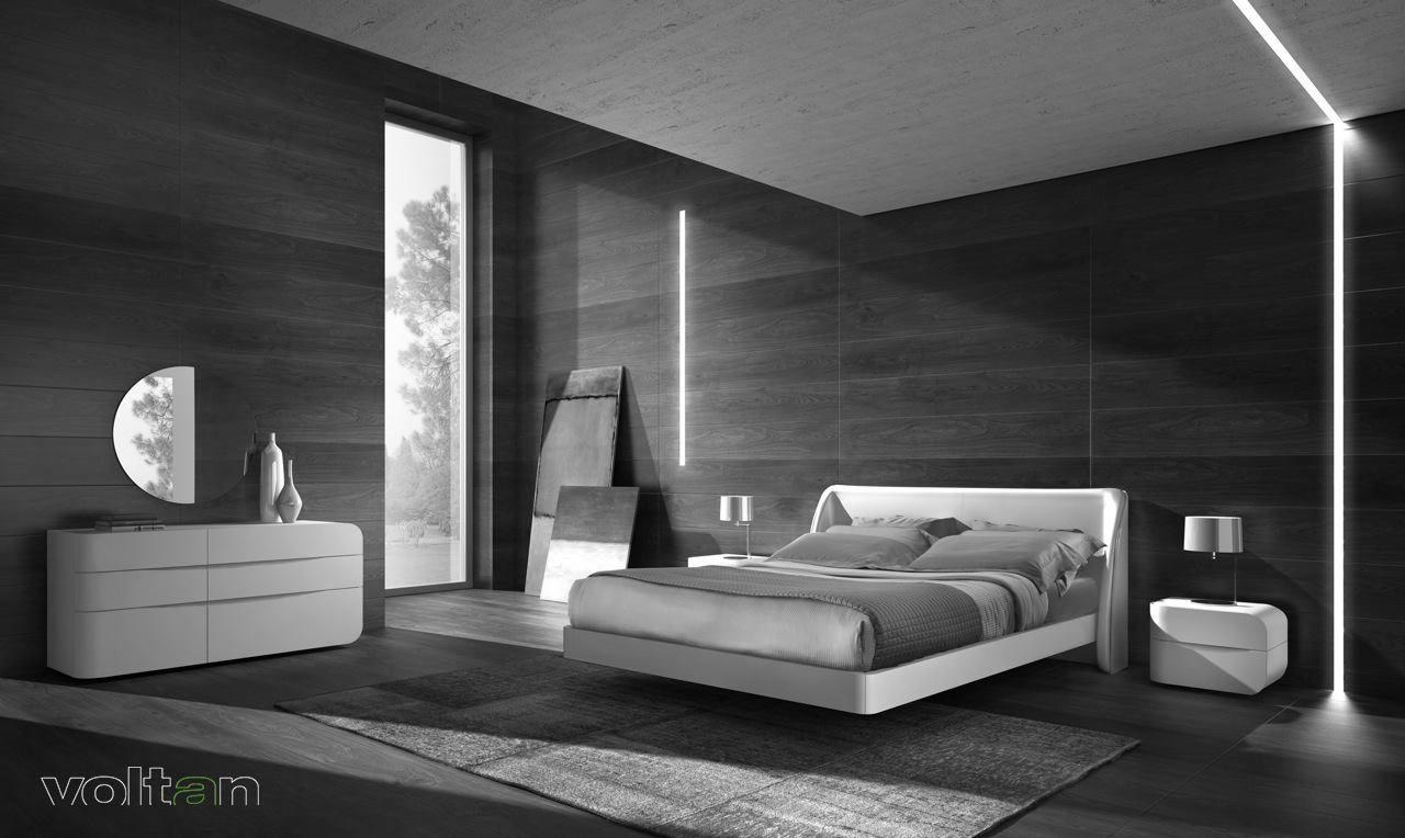 Camera Da Letto Bianca E Nera camera da letto moderna nera