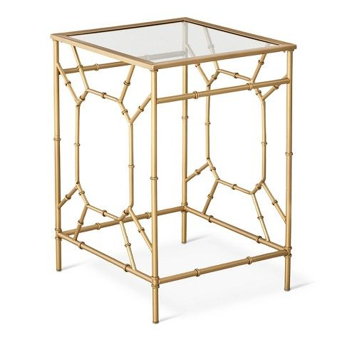 Threshold™ Bamboo Motif Accent Table   Gold