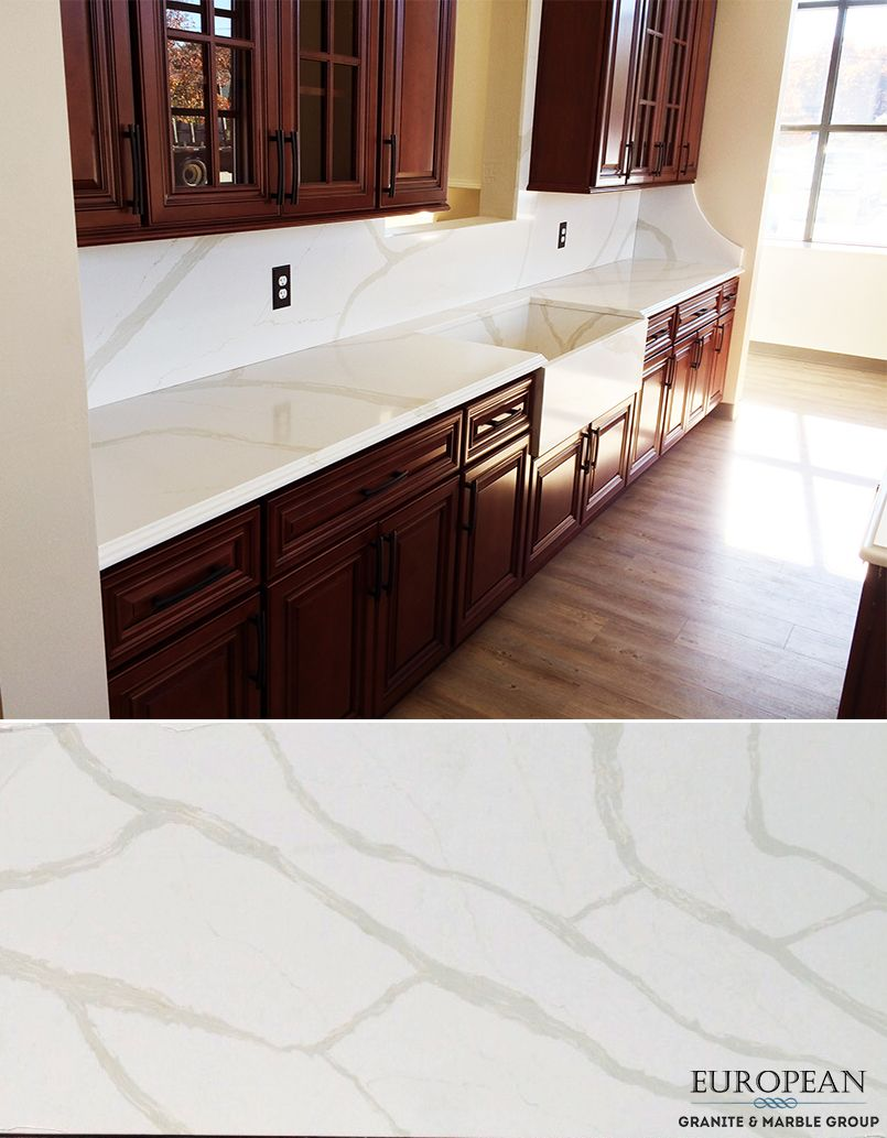 seen in this kitchen countertop and backsplash is calacatta seen in this kitchen countertop and backsplash is calacatta quartz which is reminiscent