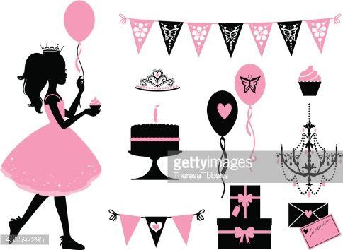 Vector Art : Little Party Princess