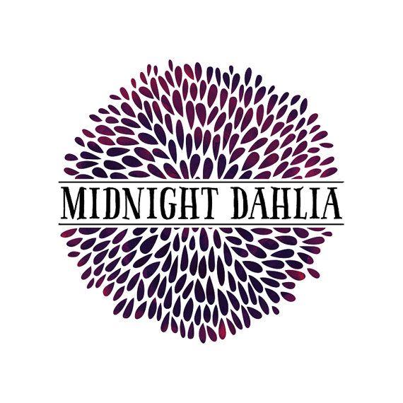 Dahlia Logo Design Dahlias Logo Floral Logo Flower Logo Midnight Dahlia Dark Flowers Dark Logo Purple Lo Logo Design Inspiration Artist Logo Logo Design