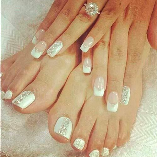 Top 50 Most Stunning Wedding Nail Art Designs #weddingnails #naildesigns # nails - 40 Ideas For Wedding Nail Designs 50th, Magazines And Wedding