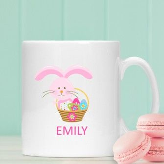 Personalised easter bunny mug for girls easter gifts pinterest personalised easter gifts stunning easter including personalised bunnies chocolate bars and sweets fast uk delivery negle Image collections