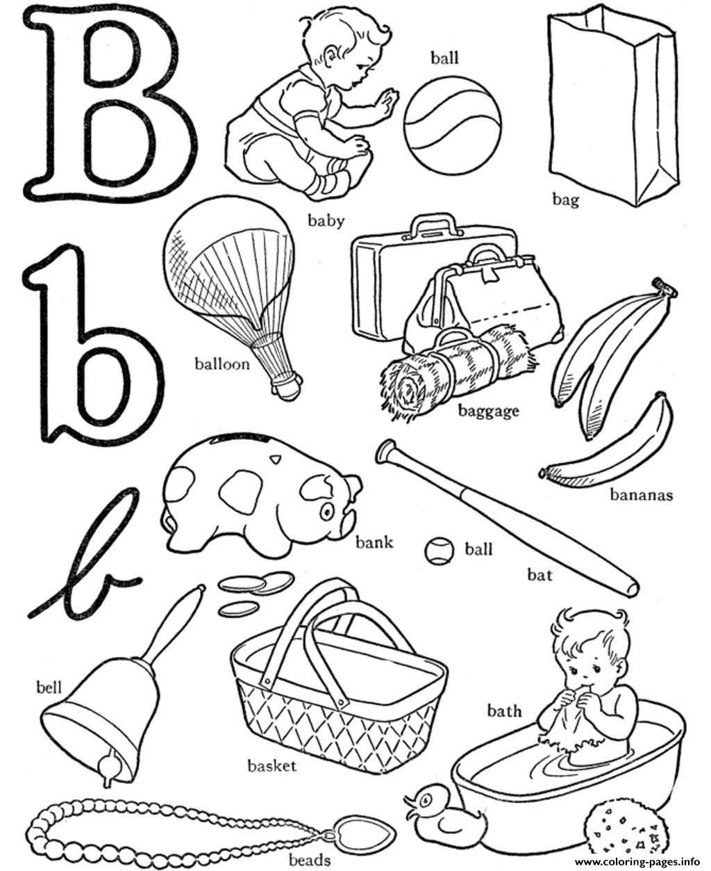 B Is For Ball Coloring Page B For Words Alphabet S3b0c