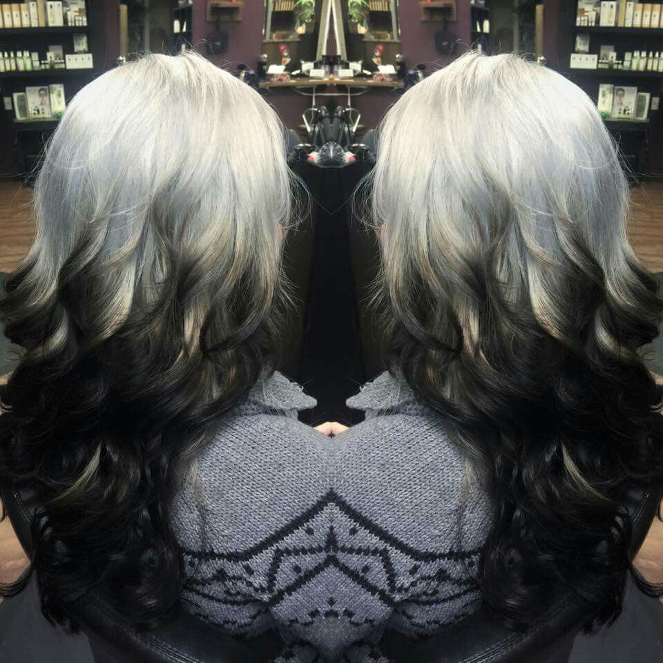 Silver reversed ombre= perfect winter look! Reverse