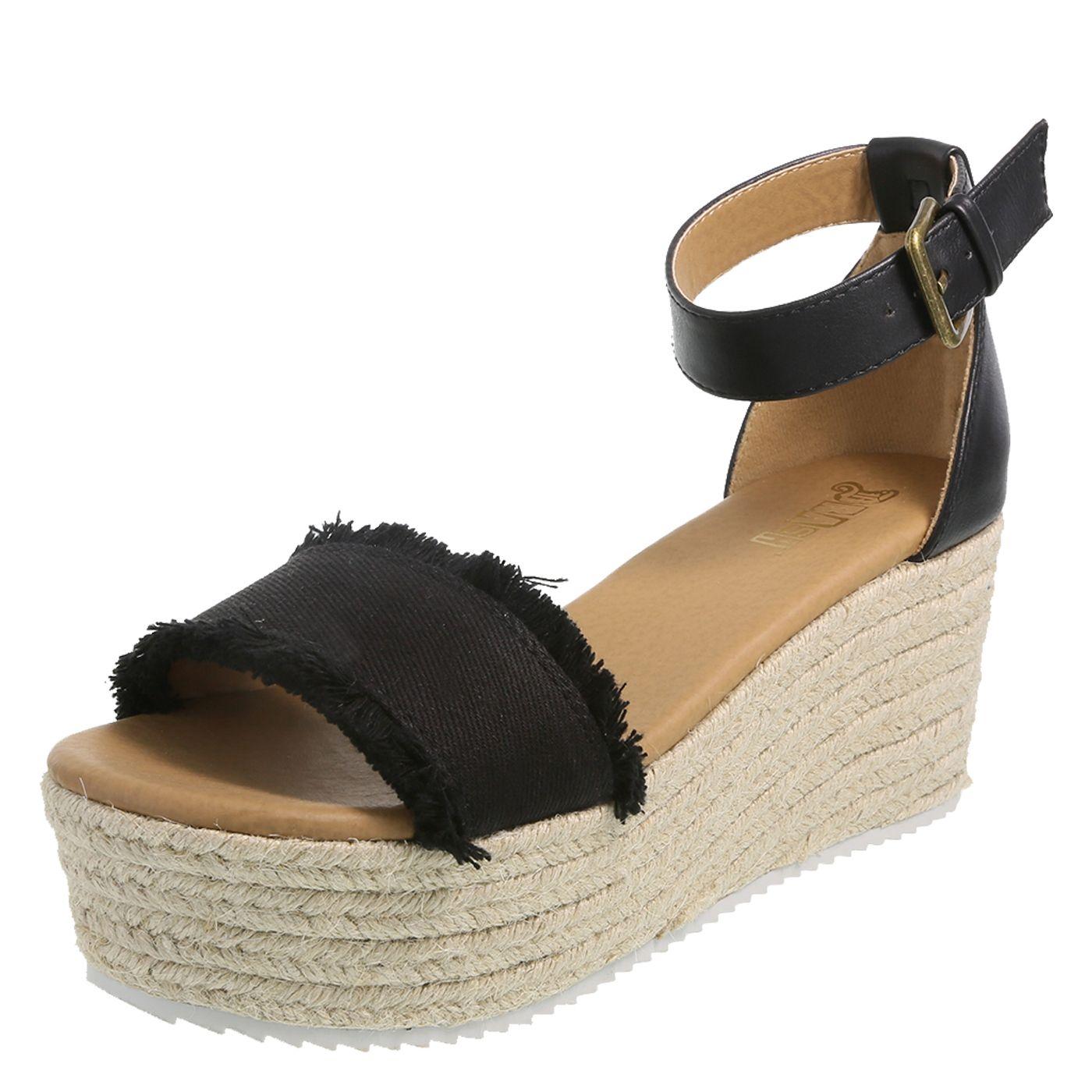 dc1d67e4f47 Brash Tessa Women s Platform Wedge Sandal Shoe