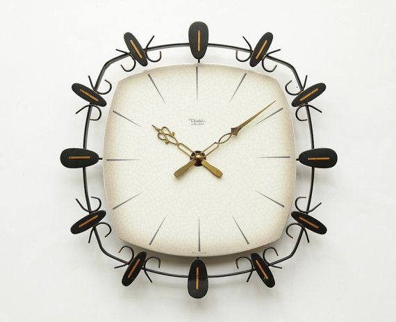 Gorgeous 1960s Mid Century Diehl Germany Wall Clock With Junghans W738 Movement A Gorgeous German Design Clock By Diehl Wall Clock Mid Century Wall Clock Clock