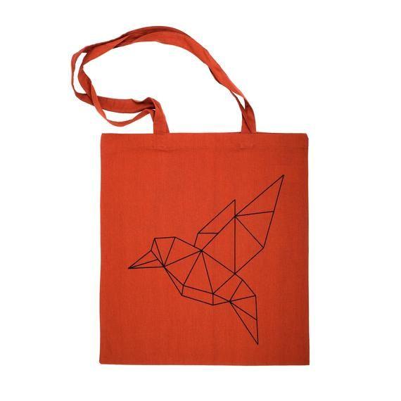 Photo of Jute bag, origami bird, carrier bag, shopping bag, bag