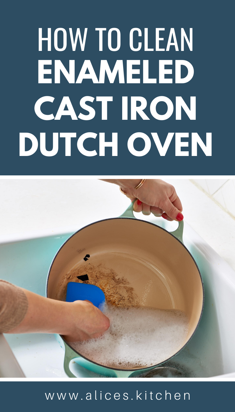 How to Clean Enameled Cast Iron Dutch Oven in 2020   Cast ...