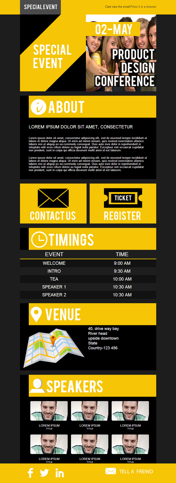 Event Email Template For Stampliacom On Behance Web Design