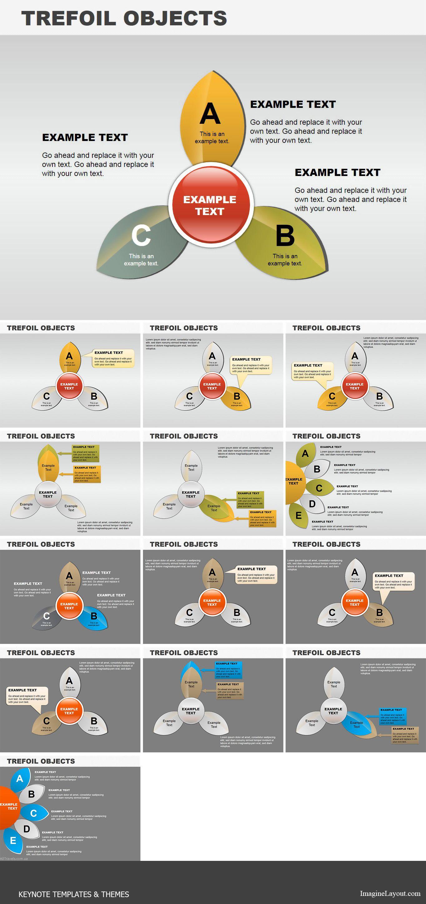 Trefoil Objects Keynote charts   Keynote Charts   Pinterest