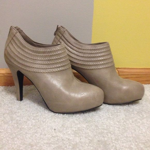 Taupe booties Adorable taupe booties size 7/7.5 Shoes Ankle Boots & Booties