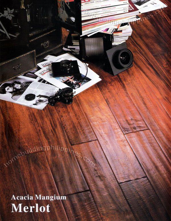 Hardwood Multi Layer Flooring Acacia Mangium Merlot Construction