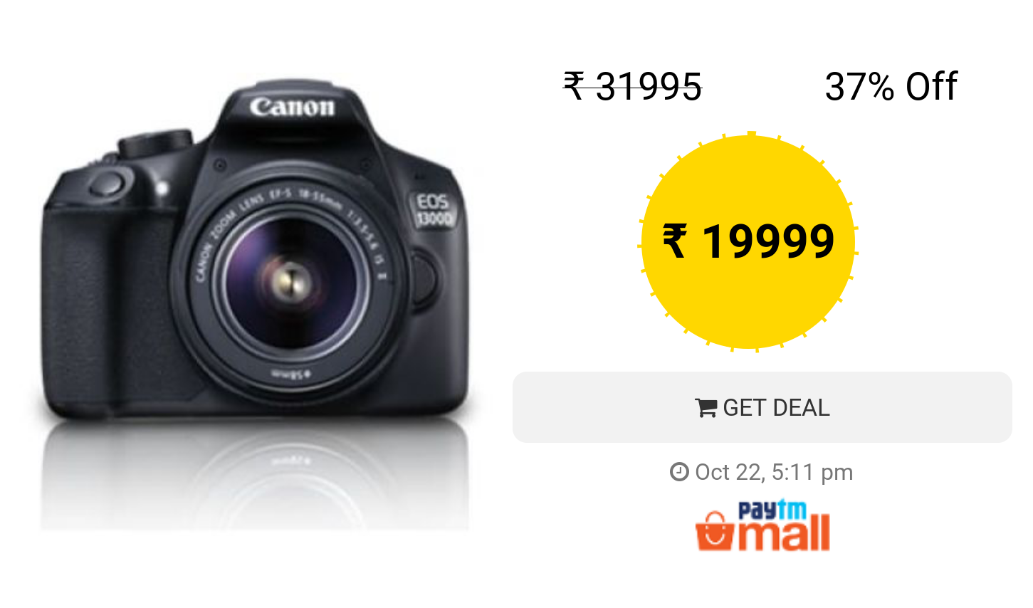 Canon Eos 1300d Kit Ef S18 55 Is Ii 18 Mp Dslr Camera Black Dslr Camera Vr Kit Dslr