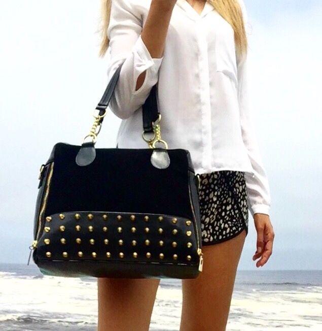 nuevos productos para venta oficial duradero en uso Cartera negra de moda ANDRESSA del catalogo de carteras de ...