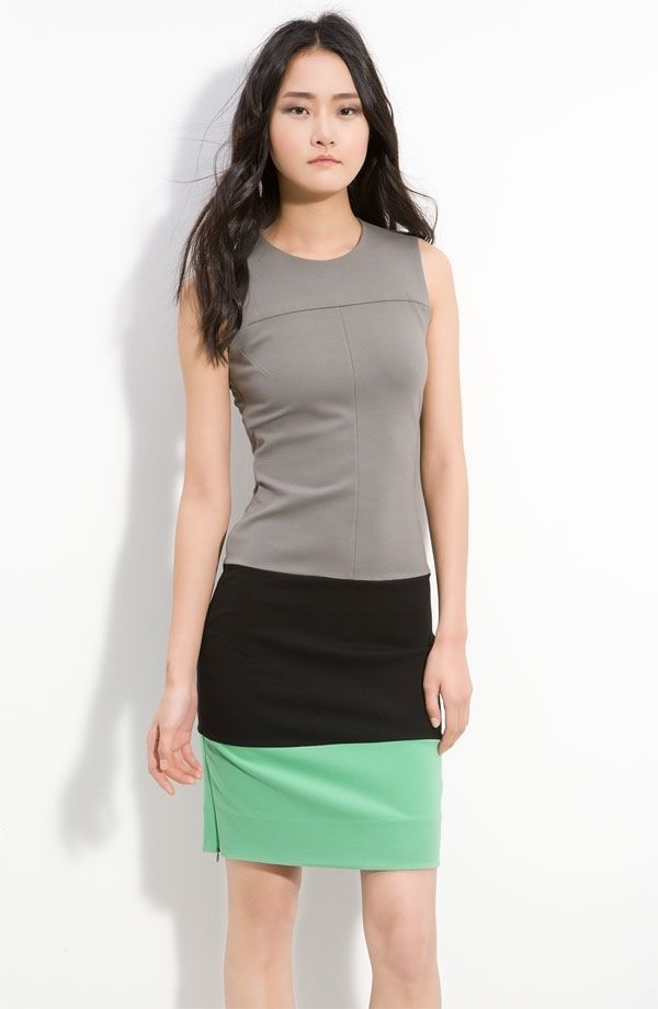 Diane von Furstenberg Sharby sleeveless color block sheeth