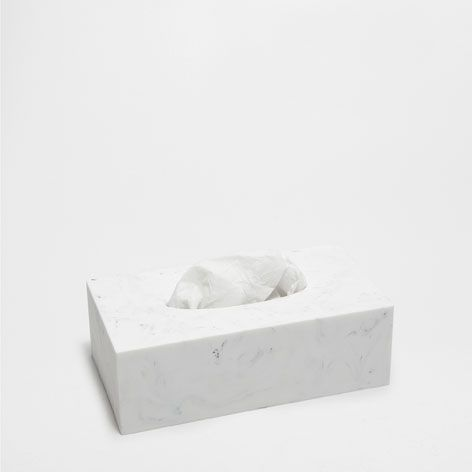 Marble Effect Tissue Box Accessories Bathroom Home Collection Zara Home United States