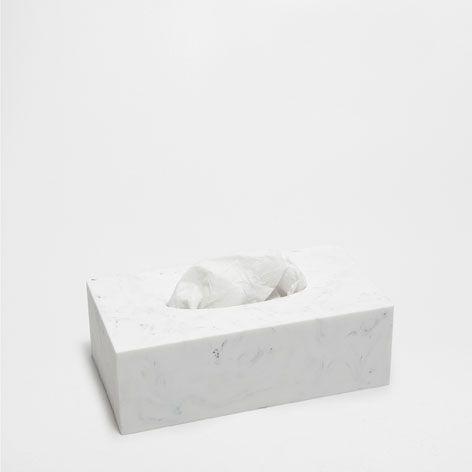 BOÎTE MOUCHOIRS EFFET MARBRE - Accessoires - Bain | Zara Home ...