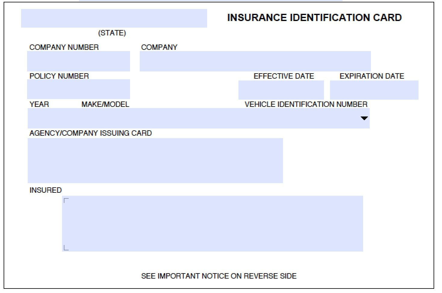 Insurance Card Template Intended For Auto Insurance Id Card Template