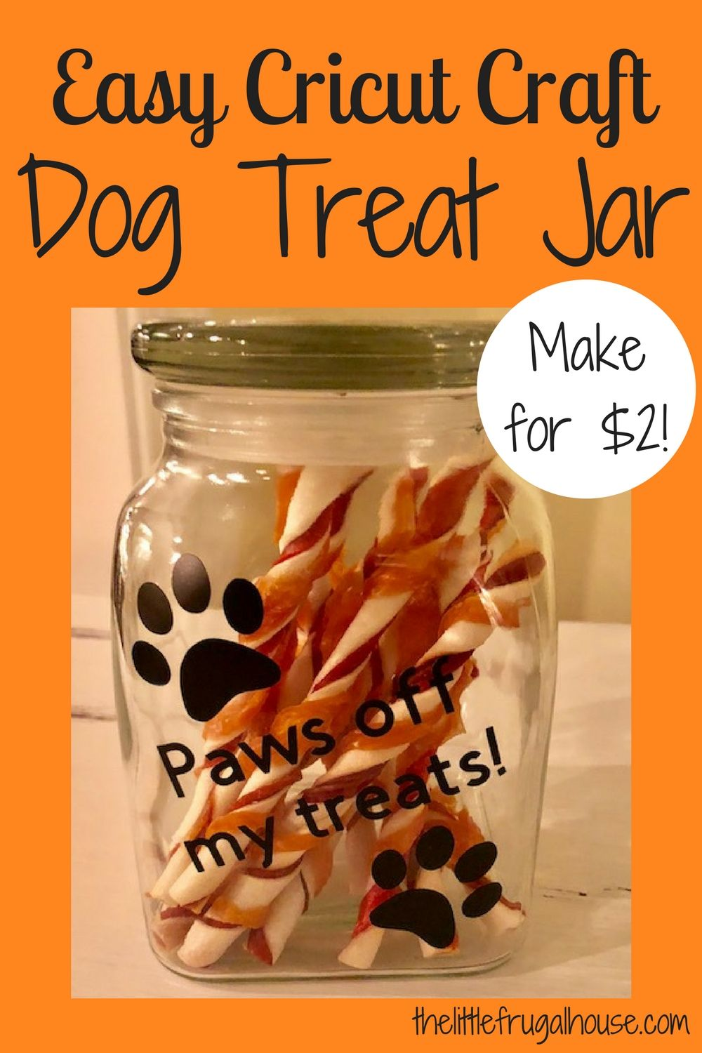 Easy Cricut Craft DIY Dog Treat Jar Diy dog treats, Dog